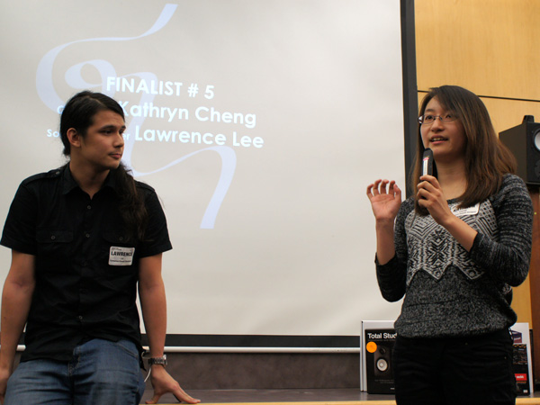 Contest Winners Kathryn Cheng, Composer & Lawrence Lee, Sound Designer