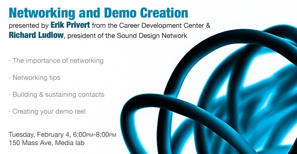 Networking and Demo Creation, Tuesday, February 4, 6:00PM-8:00PM, 150 Mass Ave, Media Lab