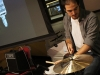 Berklee student Francisco Pawluszek plays drums